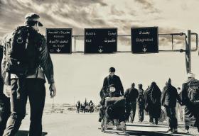 سوگواره چهارم-عکس 10-عین الله متقی زاده-پیاده روی اربعین از نجف تا کربلا