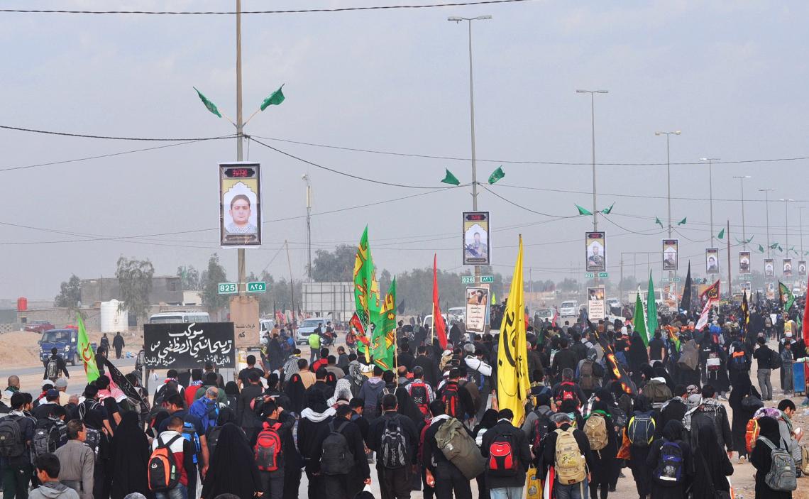 سوگواره چهارم-عکس 29-محمد علیپور شهیر-پیاده روی اربعین از نجف تا کربلا