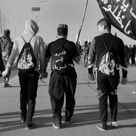 سوگواره پنجم-عکس 34-جابر غلامی-پیاده روی اربعین از نجف تا کربلا