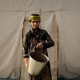 سوگواره سوم-عکس 106-حسین استوار -پیاده روی اربعین از نجف تا کربلا