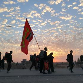 سوگواره پنجم-عکس 37-مسلم محمدی-پیاده روی اربعین از نجف تا کربلا