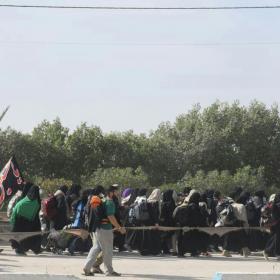 سوگواره پنجم-عکس 32-احسان ارباب پوری-پیاده روی اربعین از نجف تا کربلا