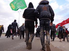 سوگواره سوم-عکس 22-علی مقنی-پیاده روی اربعین از نجف تا کربلا