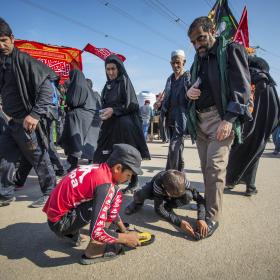 سوگواره پنجم-عکس 30-حسین علی پور-پیاده روی اربعین از نجف تا کربلا