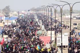 سوگواره سوم-عکس 30-محمد رفیعی موحد-پیاده روی اربعین از نجف تا کربلا