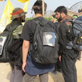 سوگواره سوم-عکس 11-محمد ابراهیمی-پیاده روی اربعین از نجف تا کربلا