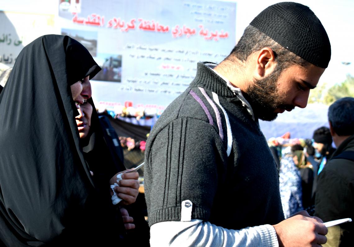 سوگواره پنجم-عکس 39-محمد حسین صادقی-پیاده روی اربعین از نجف تا کربلا