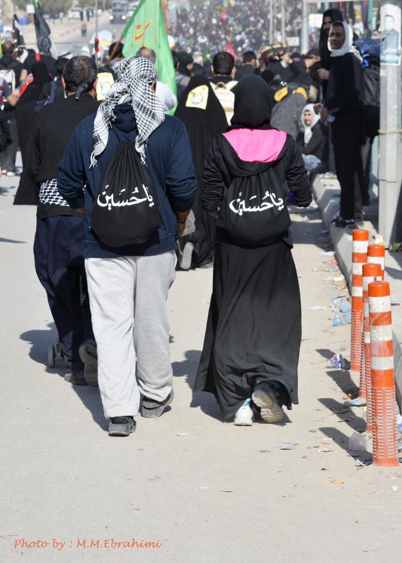 سوگواره چهارم-عکس 22-محمد مهدی ابراهیمی مدوار-پیاده روی اربعین از نجف تا کربلا