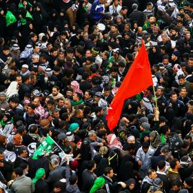 سوگواره چهارم-عکس 24-مجید حجتی-پیاده روی اربعین از نجف تا کربلا