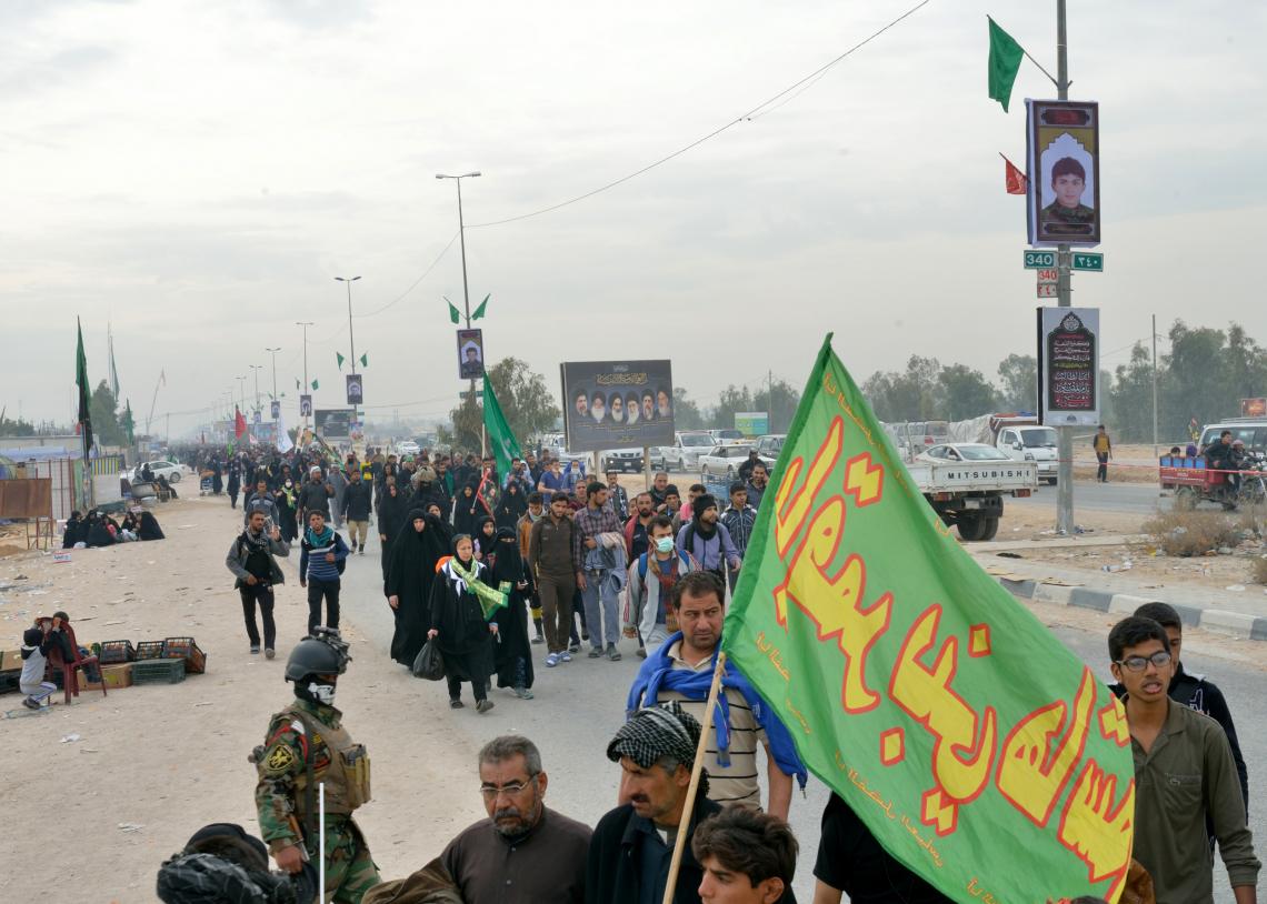سوگواره چهارم-عکس 69-سید محمد جواد صدری-پیاده روی اربعین از نجف تا کربلا