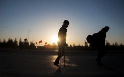 سوگواره دوم-عکس 1-علی دهقان-پیاده روی اربعین از نجف تا کربلا