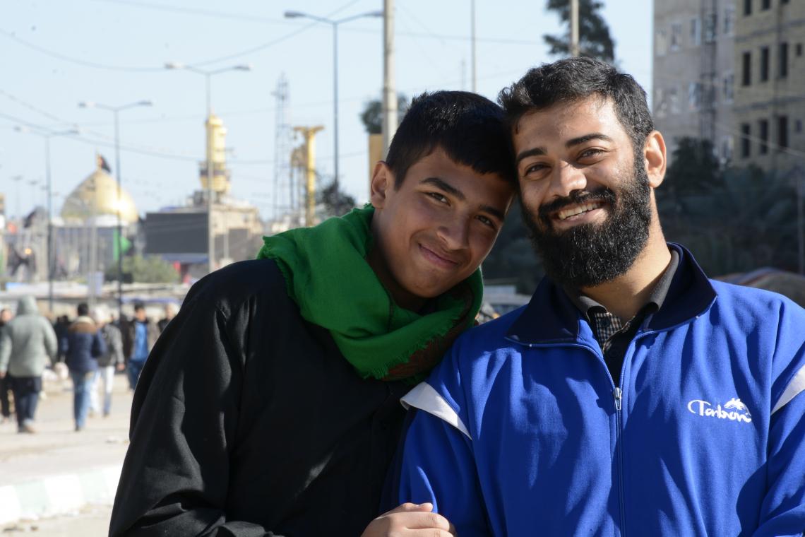 سوگواره چهارم-عکس 19-احمد جامه دارپور-پیاده روی اربعین از نجف تا کربلا