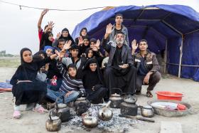 سوگواره چهارم-عکس 13-علی تیموری-پیاده روی اربعین از نجف تا کربلا