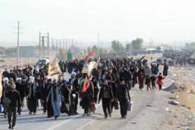 سوگواره سوم-عکس 22-محمد رفیعی موحد-پیاده روی اربعین از نجف تا کربلا