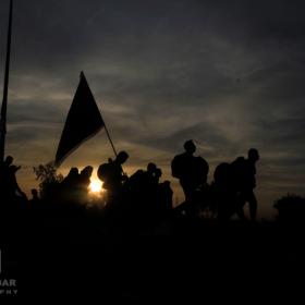 سوگواره سوم-عکس 18-حمید اسماعیل زاده-پیاده روی اربعین از نجف تا کربلا