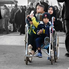سوگواره سوم-عکس 22-حمید اسماعیل زاده-پیاده روی اربعین از نجف تا کربلا