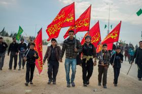 سوگواره چهارم-عکس 19-حسین علی پور-پیاده روی اربعین از نجف تا کربلا