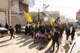 سوگواره دوم-عکس 3-روح الله خسروی نژاد-پیاده روی اربعین از نجف تا کربلا