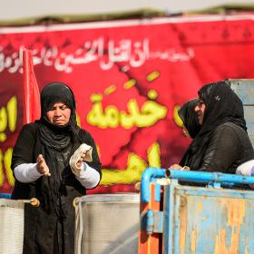 سوگواره پنجم-عکس 6-احسان جزینی-پیاده روی اربعین از نجف تا کربلا