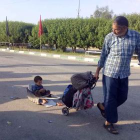 هشتمین سوگواره عاشورایی عکس هیأت-مهدي مقدم-جنبی-پیاده روی اربعین حسینی