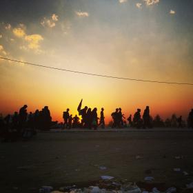 سوگواره سوم-عکس 7-سید پوریا علوی-پیاده روی اربعین از نجف تا کربلا