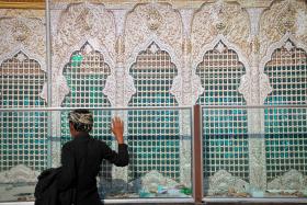 سوگواره سوم-عکس 79-حسین استوار -پیاده روی اربعین از نجف تا کربلا