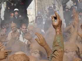 سوگواره دوم-عکس 9-سیده نساء سبحانی-پیاده روی اربعین از نجف تا کربلا
