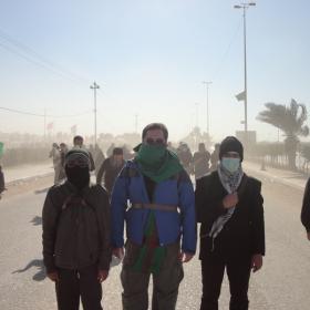 سوگواره دوم-عکس 1-کمیل هدایت فر-پیاده روی اربعین از نجف تا کربلا
