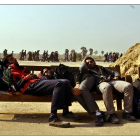 سوگواره چهارم-عکس 32-حمید رضا حبیبی محب سراج-پیاده روی اربعین از نجف تا کربلا