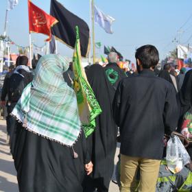 سوگواره پنجم-عکس 17-فاطمه عاقل زاده-پیاده روی اربعین از نجف تا کربلا