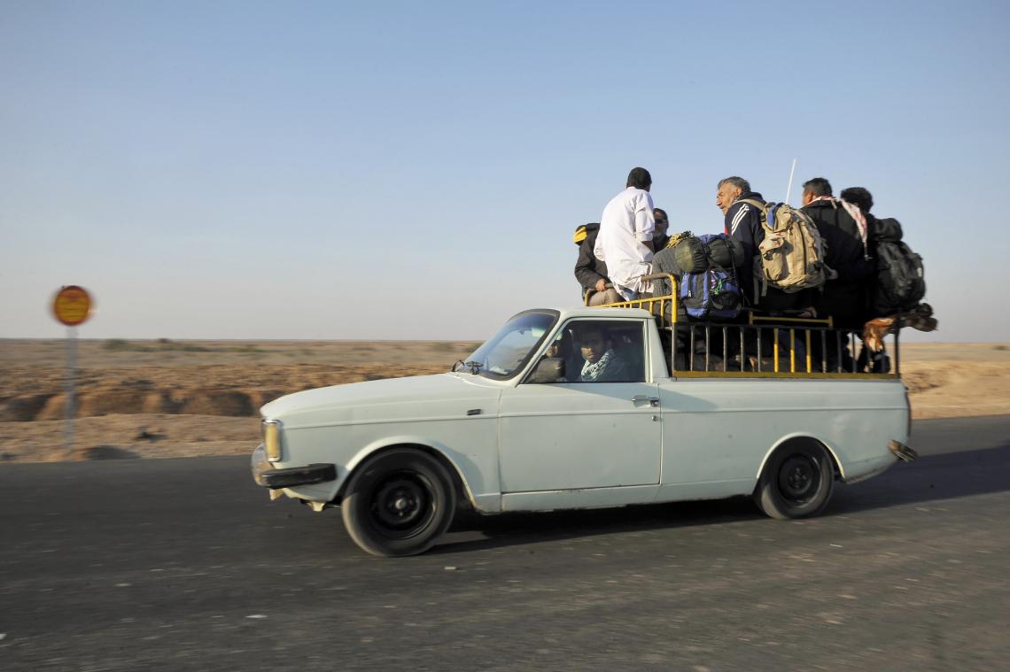 سوگواره چهارم-عکس 10-روزبه فکوری-پیاده روی اربعین از نجف تا کربلا