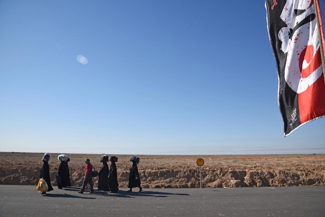 سوگواره چهارم-عکس 2-mohammadreza salehi-پیاده روی اربعین از نجف تا کربلا