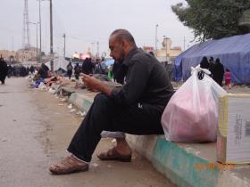 سوگواره سوم-عکس 21-علی مقنی-پیاده روی اربعین از نجف تا کربلا