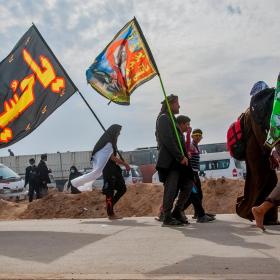 سوگواره چهارم-عکس 25-امیر عنایتی-پیاده روی اربعین از نجف تا کربلا