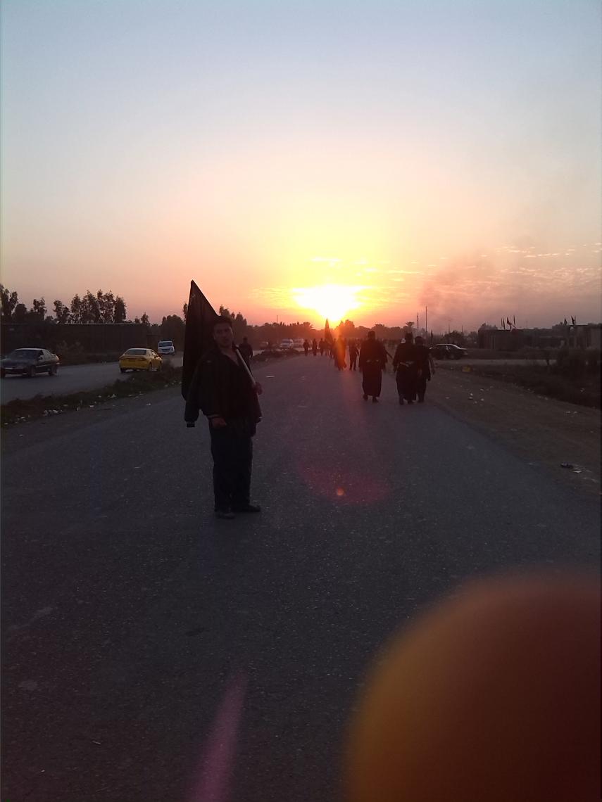 سوگواره چهارم-عکس 46-ابوالفضل علي بلندي-پیاده روی اربعین از نجف تا کربلا
