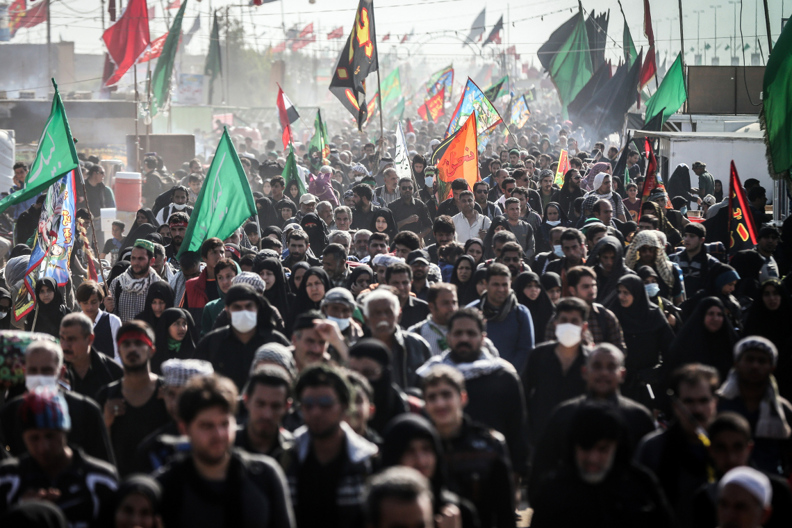 سوگواره پنجم-عکس 17-سید محمود حسینی-پیاده روی اربعین از نجف تا کربلا