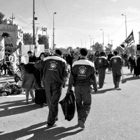 سوگواره چهارم-عکس 47-سید مصطفی عطاری-پیاده روی اربعین از نجف تا کربلا