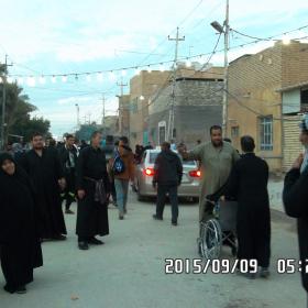 سوگواره چهارم-عکس 57- احمد عسگری زاده-پیاده روی اربعین از نجف تا کربلا