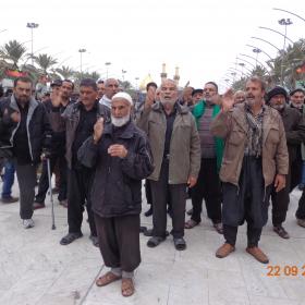 سوگواره سوم-عکس 7-علی مقنی-پیاده روی اربعین از نجف تا کربلا