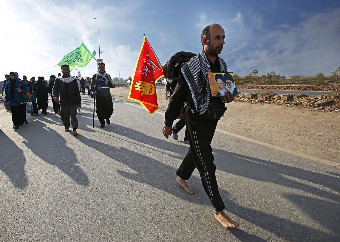 سوگواره پنجم-عکس 7-حسین حاجیلری-پیاده روی اربعین از نجف تا کربلا