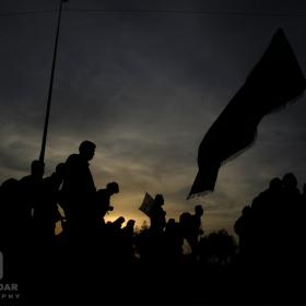 سوگواره سوم-عکس 29-حمید اسماعیل زاده-پیاده روی اربعین از نجف تا کربلا