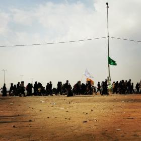 سوگواره سوم-عکس 3-سید پوریا علوی-پیاده روی اربعین از نجف تا کربلا