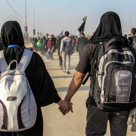 سوگواره سوم-عکس 17-امیر قیومی-پیاده روی اربعین از نجف تا کربلا