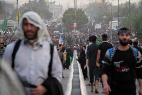 سوگواره پنجم-عکس 18-مسعود ماکاوند-پیاده روی اربعین از نجف تا کربلا