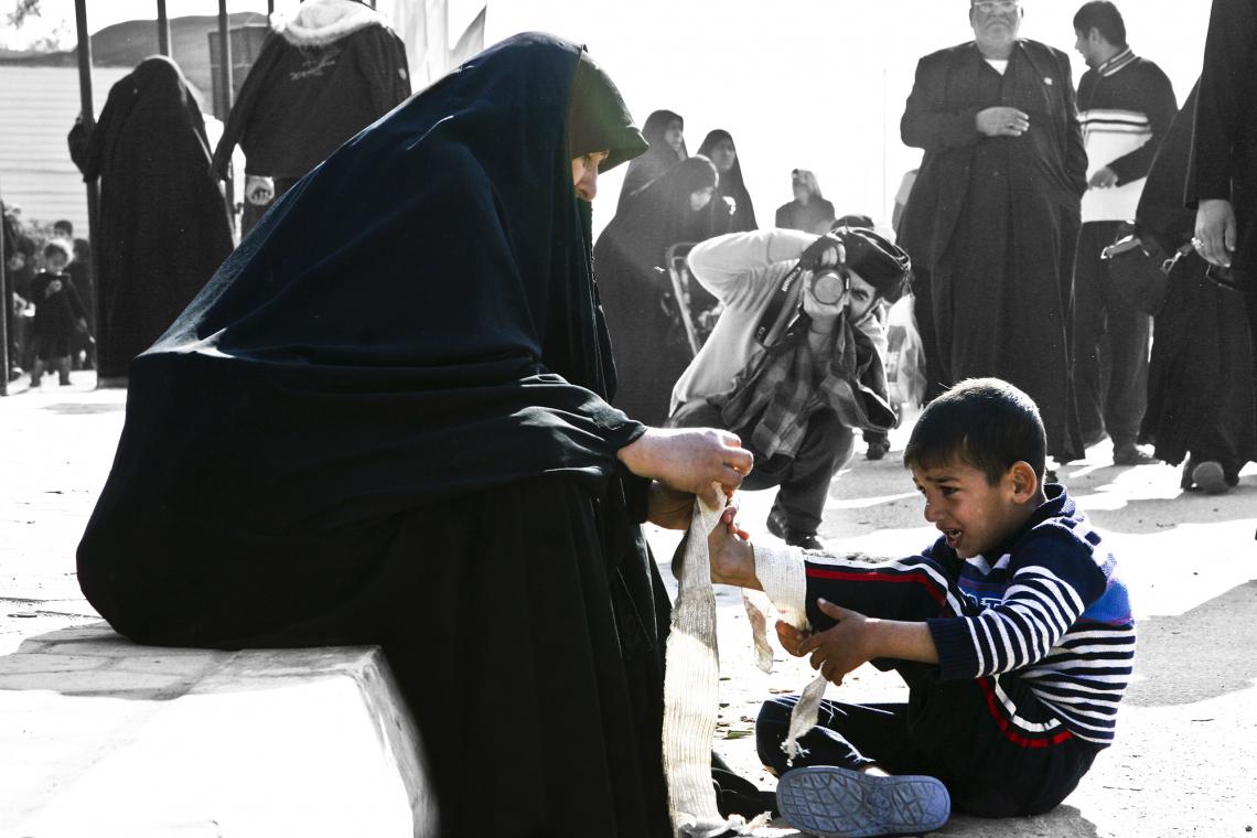 سوگواره چهارم-عکس 1-هبت الله کریمی-پیاده روی اربعین از نجف تا کربلا