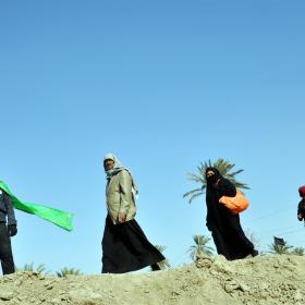 سوگواره چهارم-عکس 33-محمد علیپور شهیر-پیاده روی اربعین از نجف تا کربلا