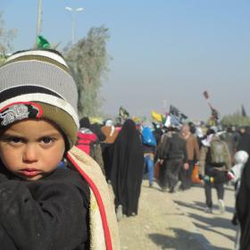 سوگواره دوم-عکس 10-ابوذر کمال-پیاده روی اربعین از نجف تا کربلا