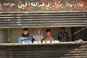 سوگواره سوم-عکس 4-حسین علی پور-پیاده روی اربعین از نجف تا کربلا