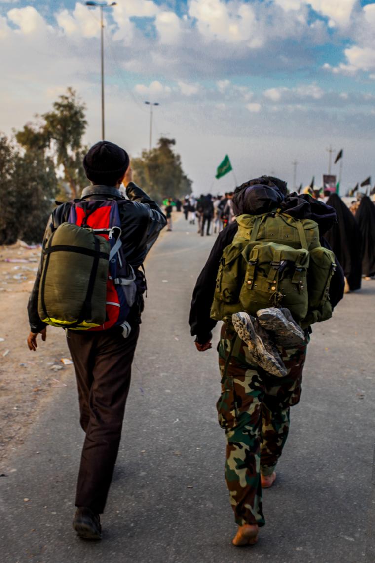 سوگواره سوم-عکس 15-محمدرضا پارساکردآسیابی-پیاده روی اربعین از نجف تا کربلا