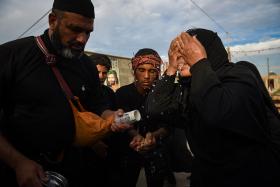سوگواره چهارم-عکس 18-سید ولی  شجاعی لنگری-پیاده روی اربعین از نجف تا کربلا